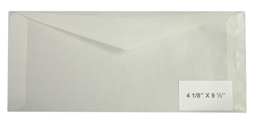 #10 Glassine Envelopes - Qty: 500
