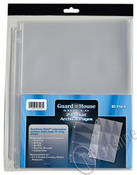 Guardhouse Shield 2 Pocket Archival (10 pack) Polypropylene Pages