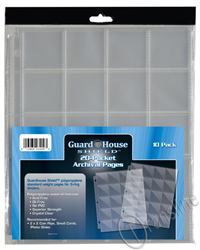 Guardhouse Shield 20 Pocket (10 pack) Archival Polypropylene Pages