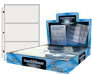 Guardhouse Shield 3 Pocket (100 pack) Archival Polypropylene Pages