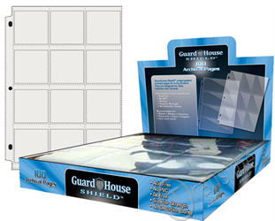 Guardhouse Shield 12 Pocket (100 pack) Archival Polypropylene Pages