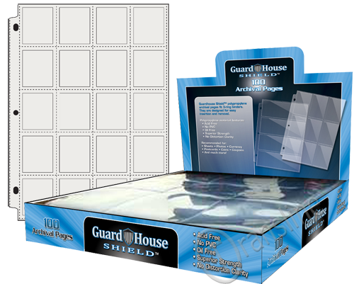 Guardhouse Shield 20 Pocket (100 pack) Archival Polypropylene Pages