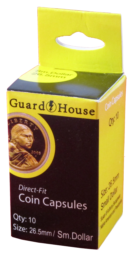 Guardhouse Direct-Fit Coin Capsule 10 Pack Small Dollar