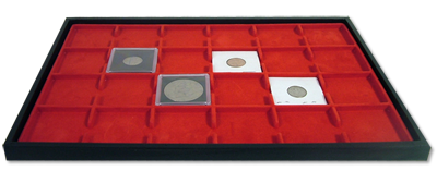 Elegant Display Tray and Jewelry Pad - Dual Use (24 Slots)