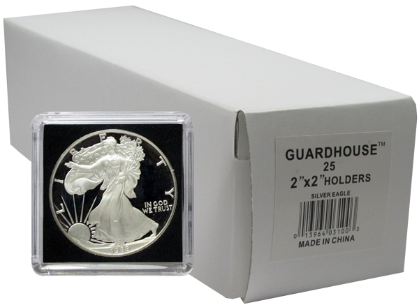 25 ROUND SILVER EAGLE 40.6 MM COIN TUBES