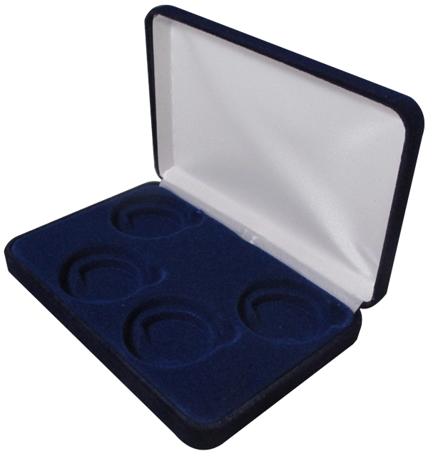 Folding Coin Box with Magnetic Lid /& Stand Insert for Large//H Capsules Navy Blue