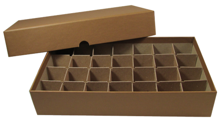 Half-Dollar Tube Box - Holds 28 Tubes