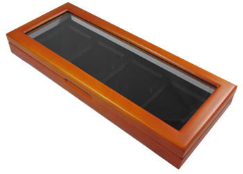 Wood Glass-top Display Slab Box - 4 Slab Universal