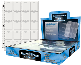 Guardhouse Shield Thumb Cut 20 Pocket (100 pack) Archival Polypropylene Pages