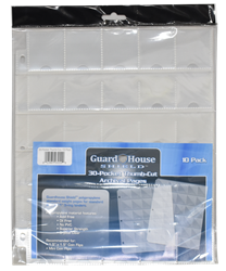 Guardhouse Shield Thumb Cut 30 Pocket (10 pack) Archival Polypropylene Pages