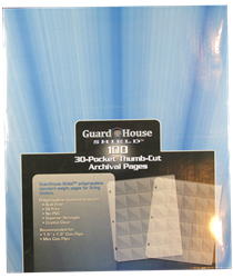 Guardhouse Shield Thumb Cut 30 Pocket (100 pack) Archival Polypropylene Pages