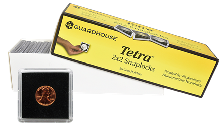 Cent 2x2 Tetra Snaplock Coin Holder - 25 per pack