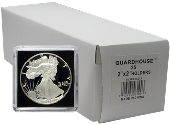 American Silver Eagle 2x2 Tetra Snaplock Coin Holder -  25 per pack