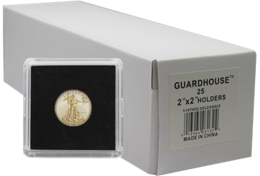 1/10 Ounce Gold Eagle 2x2 Tetra Snaplock Coin Holder - 25 per pack