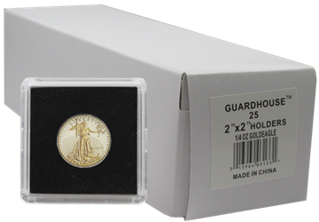 1/4 Ounce Gold Eagle 2x2 Tetra Snaplock Coin Holder  - 25 per pack