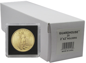 1 Ounce Gold Eagle 2x2 Tetra Snaplock Coin Holder - 25 per pack