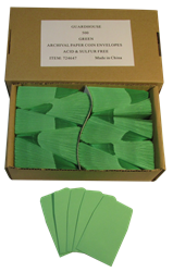 Paper Coin Envelope, Green - Qty: 500