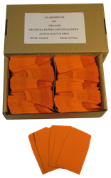 Paper Coin Envelope, Orange - Qty: 500