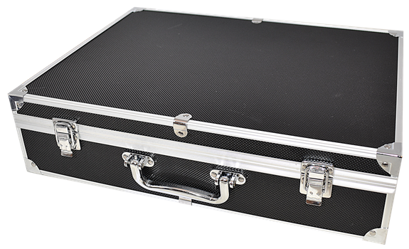 100 Slab Black & Aluminum Box - Front Handle
