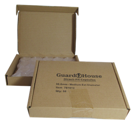 Half Dollar 30.6mm Direct-Fit Guardhouse coin holders - (M dia) / 50 per box.