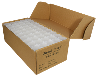 Guardhouse American Silver Eagle Coin Tube Clear Lid - 100 Pack