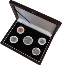 Guardhouse Wood Display Box - GH-W1300: Direct Fit Mint or Proof Set (Cent through Half Dollar)