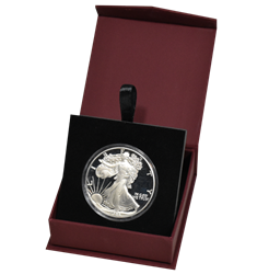 Folding Coin Capsule Box with Magnetic Lid and Stand Insert - Large Capsule