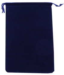 Velour Drawstring Pouch - 5x7.5 Navy Blue