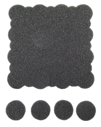 (Pack qty 500) 39mm Foam Slug for Medallion and ASE Tubes